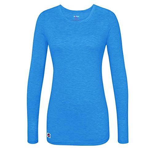 Sivvan Women's Comfort Long Sleeve T-Shirt / Underscrub Tee - S8500 - Heather Pool Blue - - Pool Long Sleeve