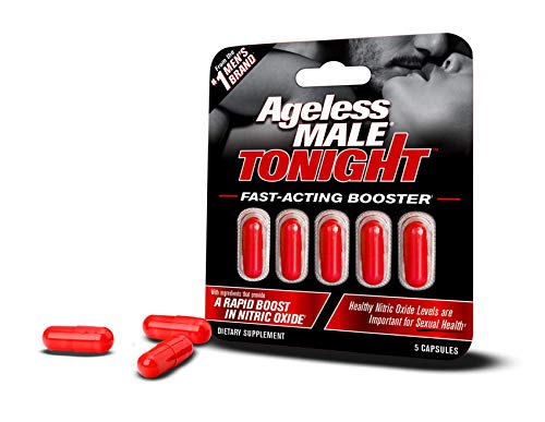 New Vitality Ageless Male Tonight Performance Enhancement and Nitric Oxide Booster Supplement (5 Capsules)