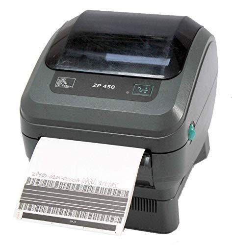 Zebra ZP 450 ZP450-0201-0000A Direct Thermal Barcode Label Printer Network USB Peeler 203dpi ()
