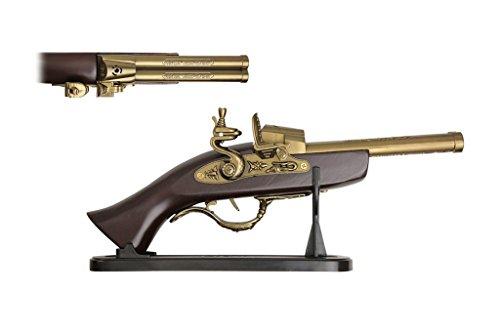 1818 Naval Officer Decorative Antique Double Barrel Flintlock Pistol (Replica)