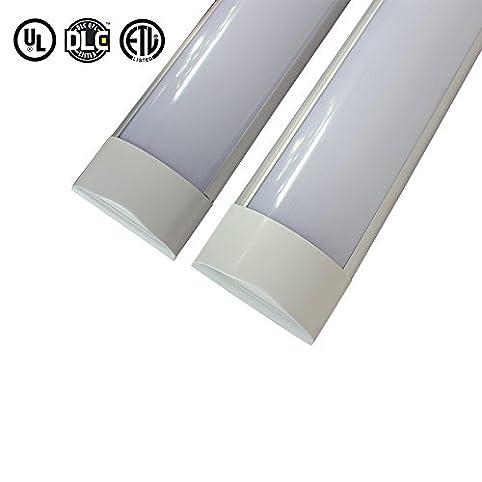 LongSung 2 pack LED linear batten light 4ft 36w wall/ceiling-mounted ...