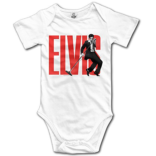 Baby Boys Girls Elvis Aaron Presley The King Heartbreak Hotel Onesies Newborn Clothes (Elvis Onesie)