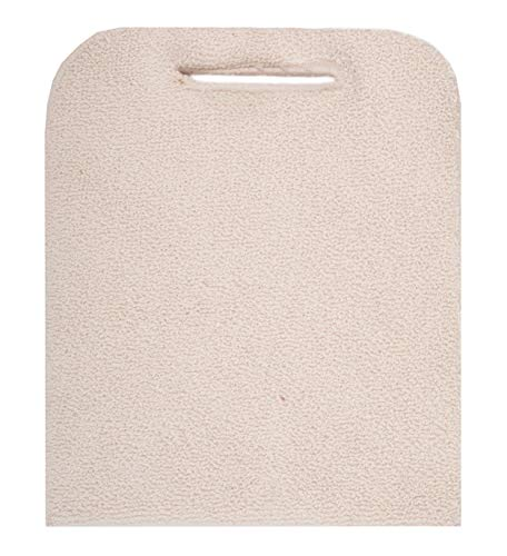 ABC 12 Pack Terry Cloth Baker's Pads. Industrial Oven Pads for Heat Protection. Pot Holders with Hand Hole. Heat Resistant Knitted Pads for Baking, Cooking Needs. Natural Color. One Size fits All.