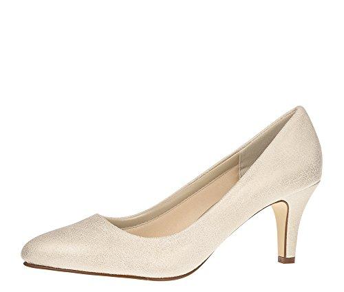 Rainbow Club Women's Brooke Champagne Lustre Court Shoes gold champagne vuz3rUFE