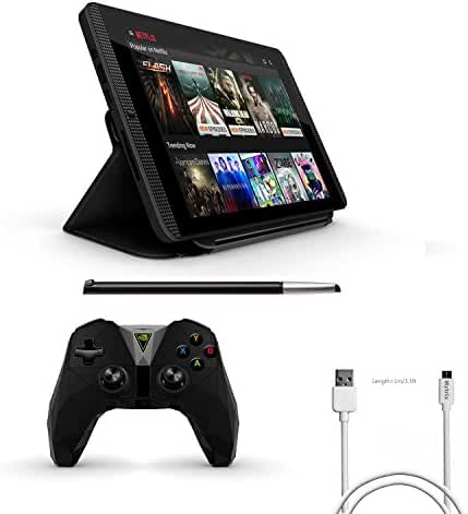 Nvidia Shield Tegra K-1 8.0 inch 16GB Tablet 4 items Complete Bundle:Nvidia Shield Tegra K-1 Tablet,Newer Version Controller,NVIDIA SHIELD DirectStylus 2,Cover,Mytrix USB-to-Micro Charging Cable