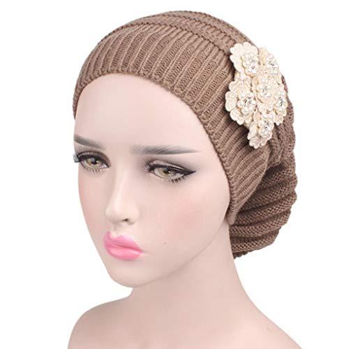 Winter Wool Knit Hat Laimeng_ World Women Ladies Knitting Hat Beanie Turban Head Wrap Cap Pile Cap (Khaki) ()