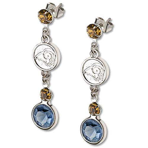 St. Louis Rams Crystal Logo Dangle Earrings - Louis Rams Crystal Earring
