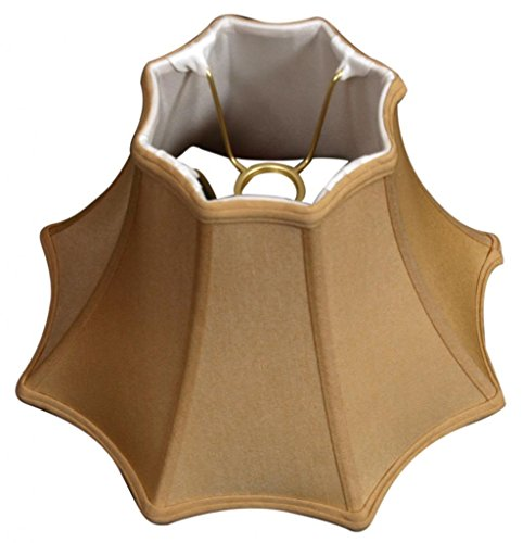 Royal Designs 8 Sided Top Bottom Bell Basic Lamp Shade, Antique Gold, 6 x 13 x 9, UNO Floor Lamp