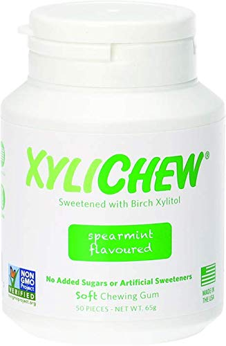 (Xylichew - Naturally Better Sugar-Free Chewing Gum, Spearmint - 4 Pack of 60 Pieces (240 Pieces Total))