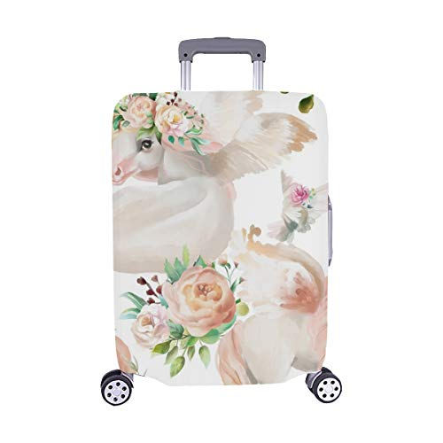 (Beautiful Unicorns Princess Pegasus Gold Spandex Trolley Case Travel Luggage Protector Suitcase Cover 28.5 X 20.5)