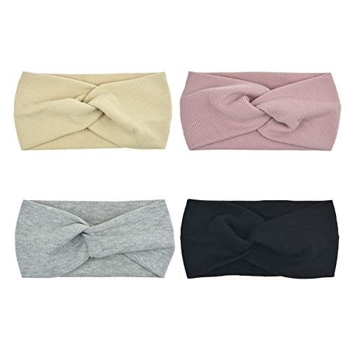 Hair Style 1950 (DRESHOW 1950's Vintage Modern Style Elastic Women Turban Headbands Twisted Cute Hair Band Accessories (4 Pack)