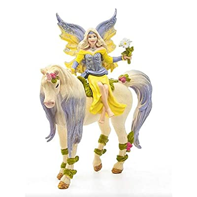 SCHLEICH bayala Fairy Sera with Blossom Unicorn Imaginative Toy for Kids Ages 5-12: Schleich: Toys & Games