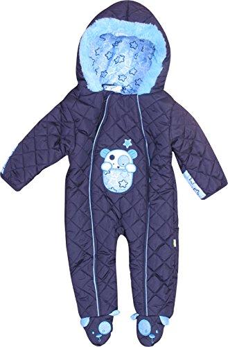 Duck Duck Goose DDG Baby Boys & Girls Quilted Pram Snowsuit, Navy Puppy, 3-6 Months Baby Boy Snowsuit