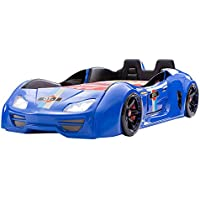 Turbobeds GT1-H-BL Contemporary Turbo Car Bed Opening Doors and Interior, Twin