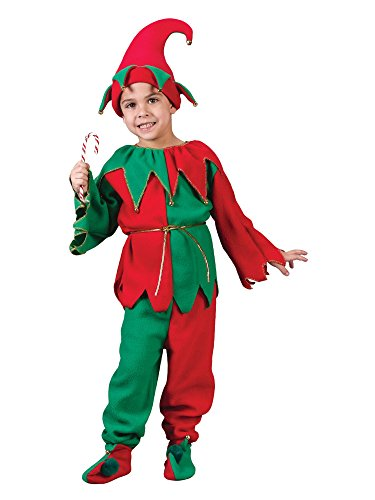 Child Elf Set Costume - (Candy Cane Costume For Boys)