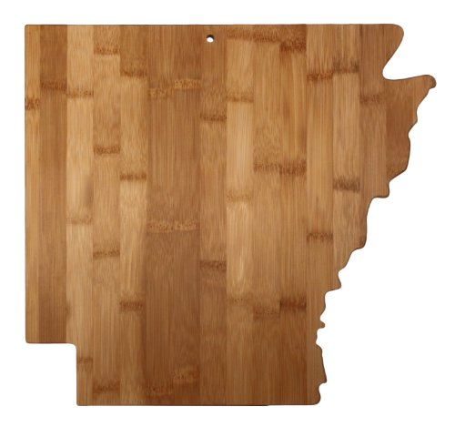 "Totally Bamboo State Cutting & Serving Board – ""ARKANSAS"", 100% Organic Bamboo Cutting Board for Cooking, Entertaining, Décor and Gifts. Designed in the USA!"