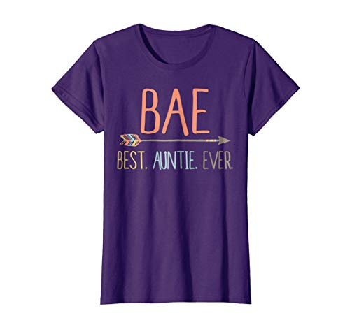 Womens Funny BAE Shirt Best Auntie Ever Shirt