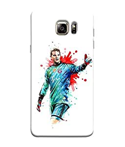 ColorKing Football Neuer Germany 03 White shell case cover for Samsung S6 Edge
