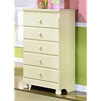 Ashley Furniture Signature Design - Cottage Retreat Chest of Drawers - 5 Drawers - Casual Arched Top Drawers - Cream Cottage