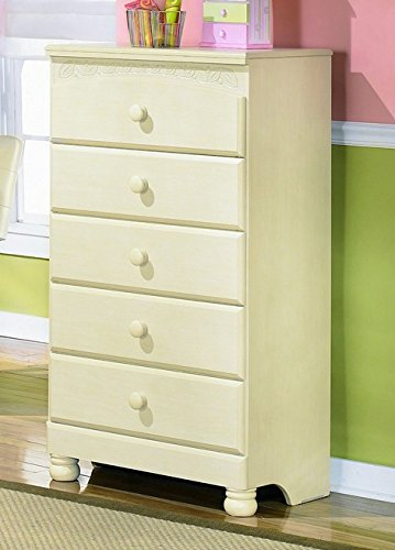 Signature Design by Ashley B213-46 Cottage Retreat Collection Chest of Drawers, Cream - Drawer Collection Cottage Chest
