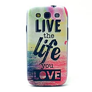 ZCL sold out Live Life Sea Pattern Hard Case Cover for Samsung Galaxy S3 I9300