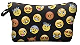 Cute Emoji Cosmetic Makeup Pencil Bag Case Clutch Pouch Purse Handbag Black