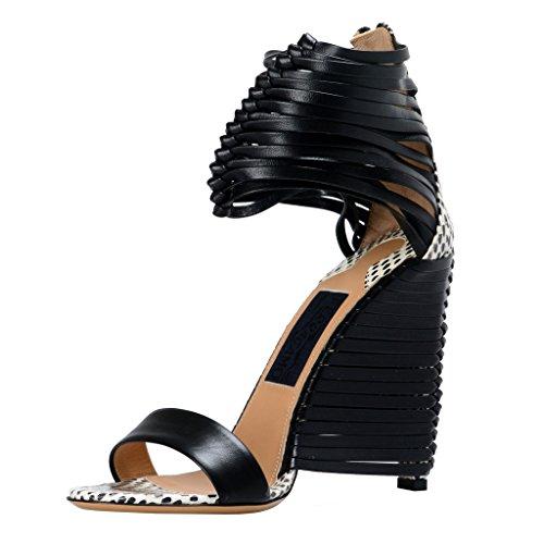 (Salvatore Ferragamo Women's Pulcket High Heel Sandals Shoes US 7 IT 37;)