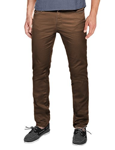 Match Men's Slim Fit Straight Leg Casual Pants(29, 8032 Dark brown)