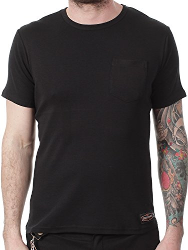 West Coast Choppers Jesse James Black Sturdy Work Pocket T-Shirt (S, Black) (Jesse James West Coast Choppers)