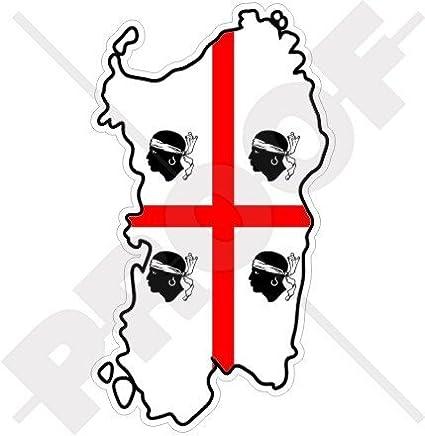 Amazon Com Sardinia Sardinian Map Flag Italy Sardegna Italian 4 3
