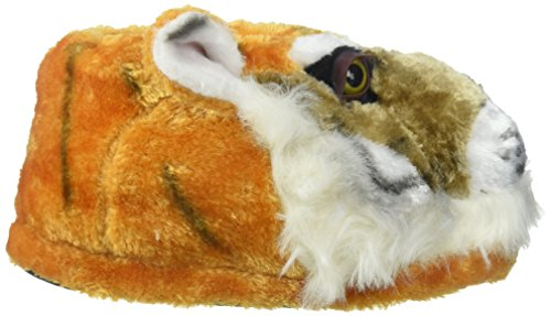 50+ STYLES - PREMIUM FULL FOOT Happy Feet Mens and Womens ANIMAL SLIPPERS Tiger - Orange O1XCDdmSlC