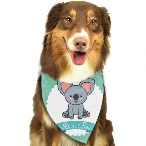 Pack Washable Triangle Bibs Scarfs Cute Koala Animal Card Baby Shower Reversible Plaid Printing Kerchief for Dogs and Cats ()