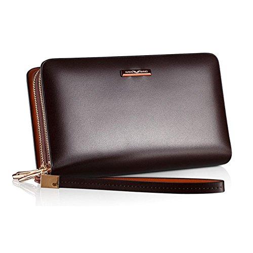 Organizer Brown Mens amp;w Bag Clutch Full 12 grain Leather Wallet H 11 Z70vw