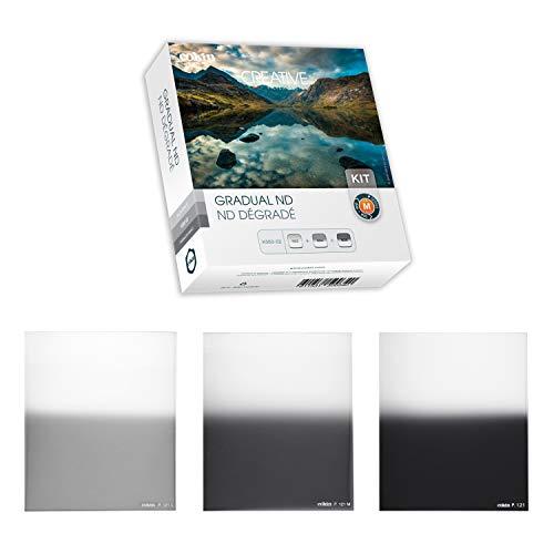 Cokin H300–02–Juego de 3filtros de Densidad Neutra con Microfibra Color Gris Neutro