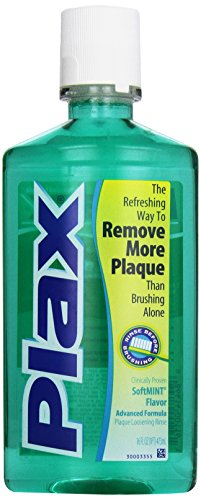 Plax Advanced Formula Plaque Loosening Rinse, Soft Mint, 16 Fluid Ounce (Pack of 12) Sams Smoker