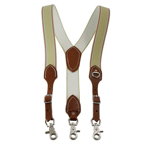 Outfitters Supply Suspenders with Scissor Snaps, Natural Oil Brown, Large