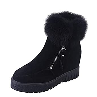 Amazon.com: Tootu Women's Side Zipper Boots Snow Boots