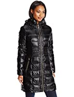 Via Spiga Women's Metallic Packable Down Coat with Hood