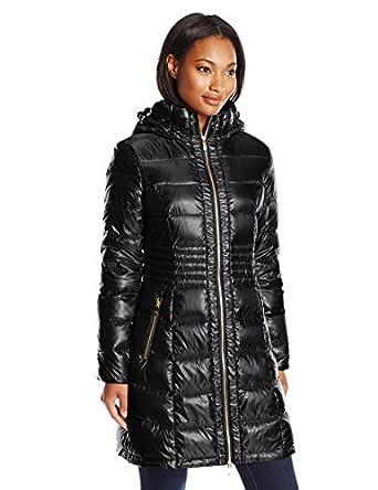 Via Spiga Women S Metallic Packable Down Coat With Hood At