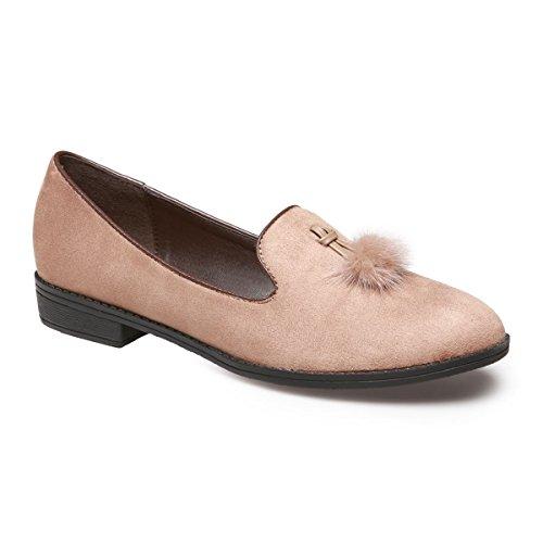 La Modeuse - Mocasines para mujer marrón