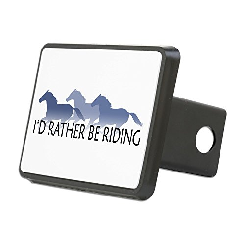 CafePress - Rather Be Riding A Wild Horse Rectangular Hitch Co - Trailer Hitch Cover, Truck Receiver Hitch Plug Insert