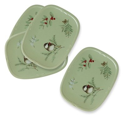 Pfaltzgraff Oval Plates - Winterwood Oval Buffet Plate (Set of 4)