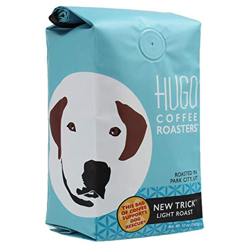 Hugo Coffee Ground New Trick Light Roast Coffee with Bright, Playful, and Sweet Tasting Notes | Hugo Supports Dog…