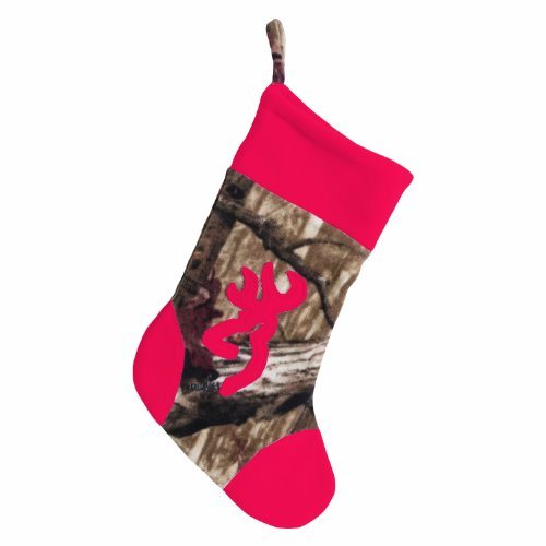 Browning Red and Mossy Oak Camo Christmas Stocking