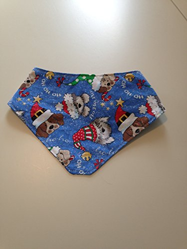 Bandana Pup (Mark Your Decorations Reversible Dog Bandanas (Christmas Pup/Winter, Extra Small))