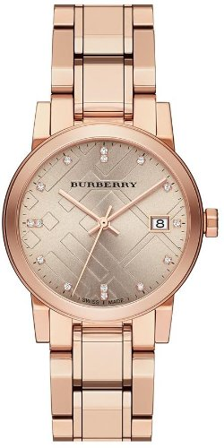 Burberry The City Rose Gold Diamond Ladies Watch BU9126