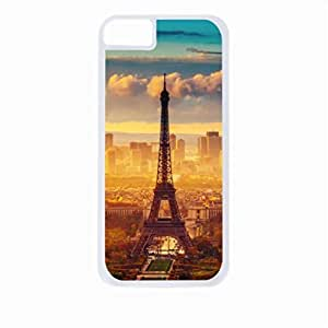 Eiffel Tower in the Daylight - Case for the Apple Iphone 4-4s Universal-Hard White Plastic Outer Shell with Inner Soft Black Rubber Lining