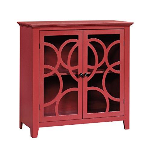 (Sauder 416840 Shoal Creek Elise Display Cabinet, L: 35.98