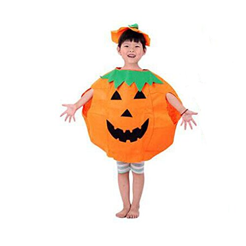 Present Costume Cute (Amor Pumpkin Costume Suit Unisex Cute Halloween Cosplay Costume Party Clothes for Kids)