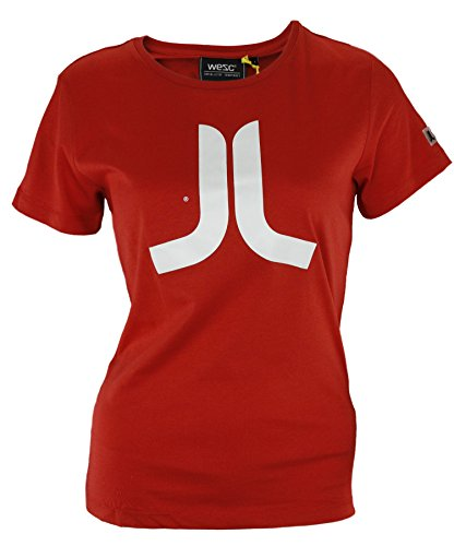 (Wesc Women's Icon Short Sleeve T-Shirt (Large, Red))